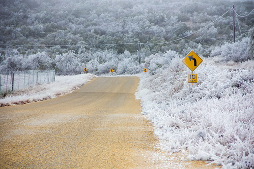 Icy Road in West Texas | by joncutrer