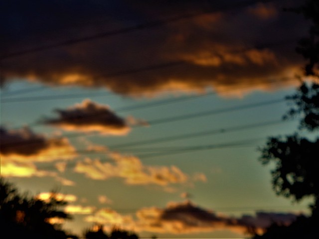 IMPRESSIONISTIC SUNSET CLOUDS