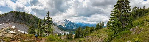 mountbakernationalforest mountbaker mountains clouds trees wilbur photographer iceberglake lake panorama landscape