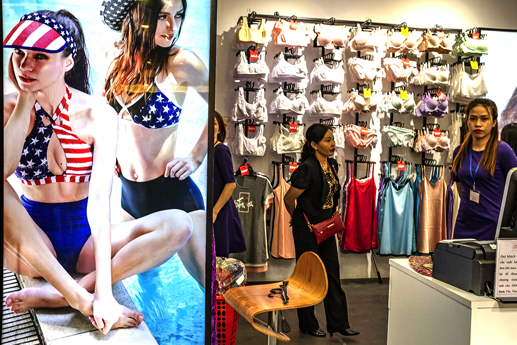 America flag swimsuits at Eon Mall--Saigon