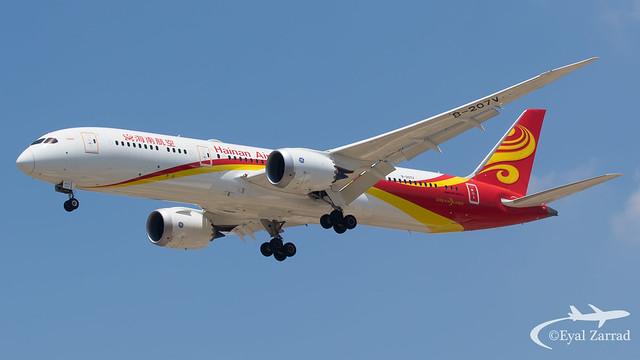 TLV - Hainan Airlines Boeing 787-9 B-207V