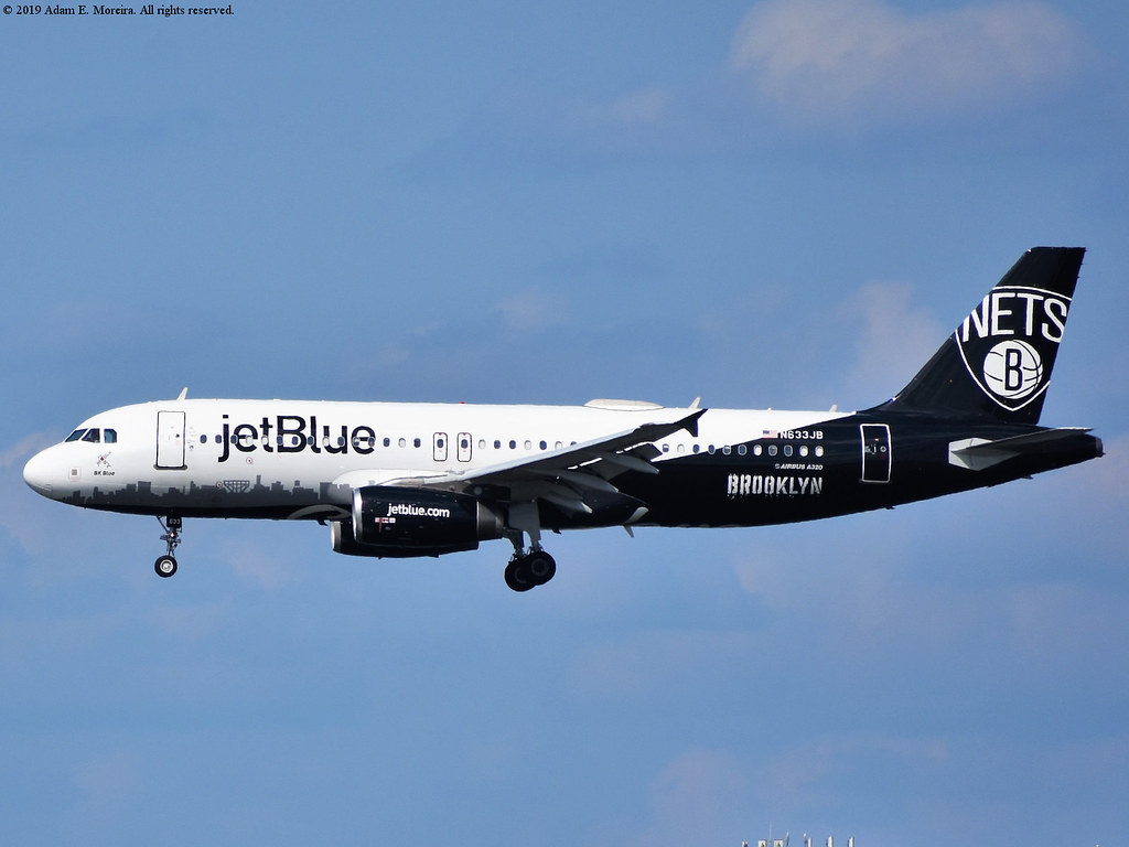 N633JB (JetBlue Airways - BK Blue - Brooklyn Nets special livery))