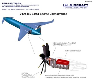 FCH-150 Hydrogen Fuel Cell Commercial Aircraft - IO Aircraft - Iteration 2