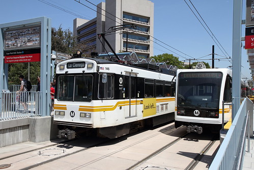 Old and New Light Rail Vehicles