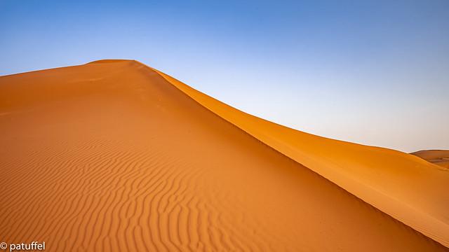 Golden Hour in the sand desert