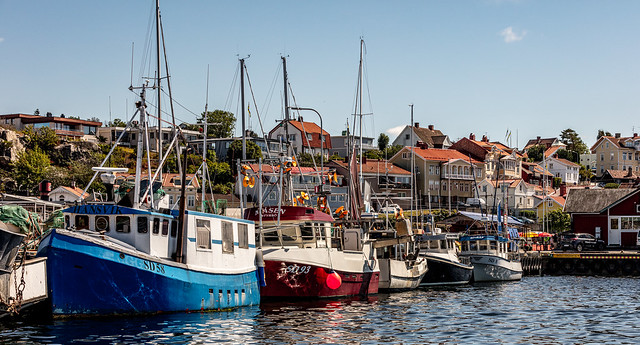 Trawlers in Strömstad harbor
