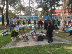 Teddy Bears Picnic to #SaveGandolfoGardens  with an #Upfieldline train IMG_1530
