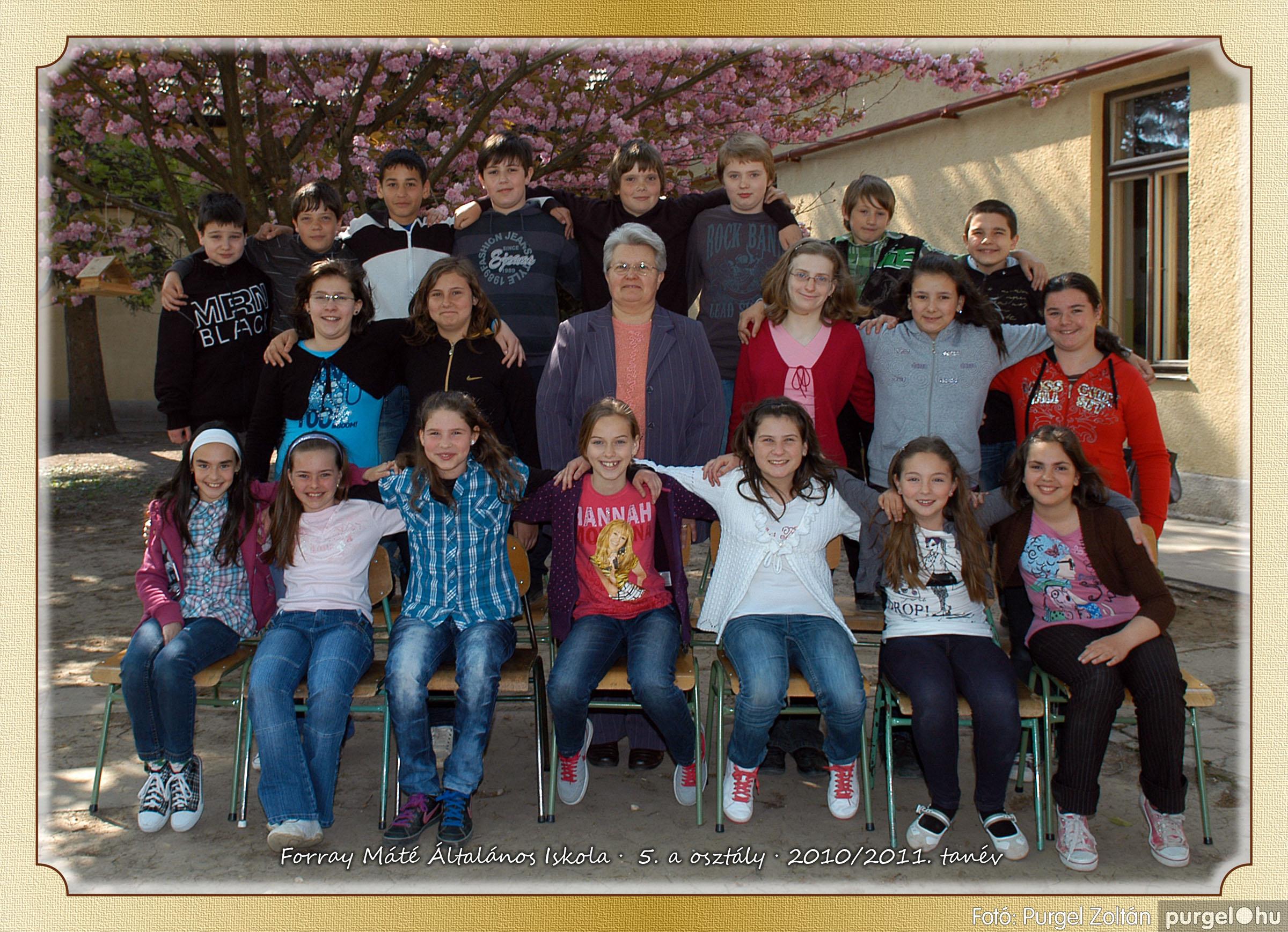 2011.04.18-05.30. 026 Forray Máté Általános Iskola osztályképek 2011. - Fotó:PURGEL ZOLTÁN© 5a-2.jpg