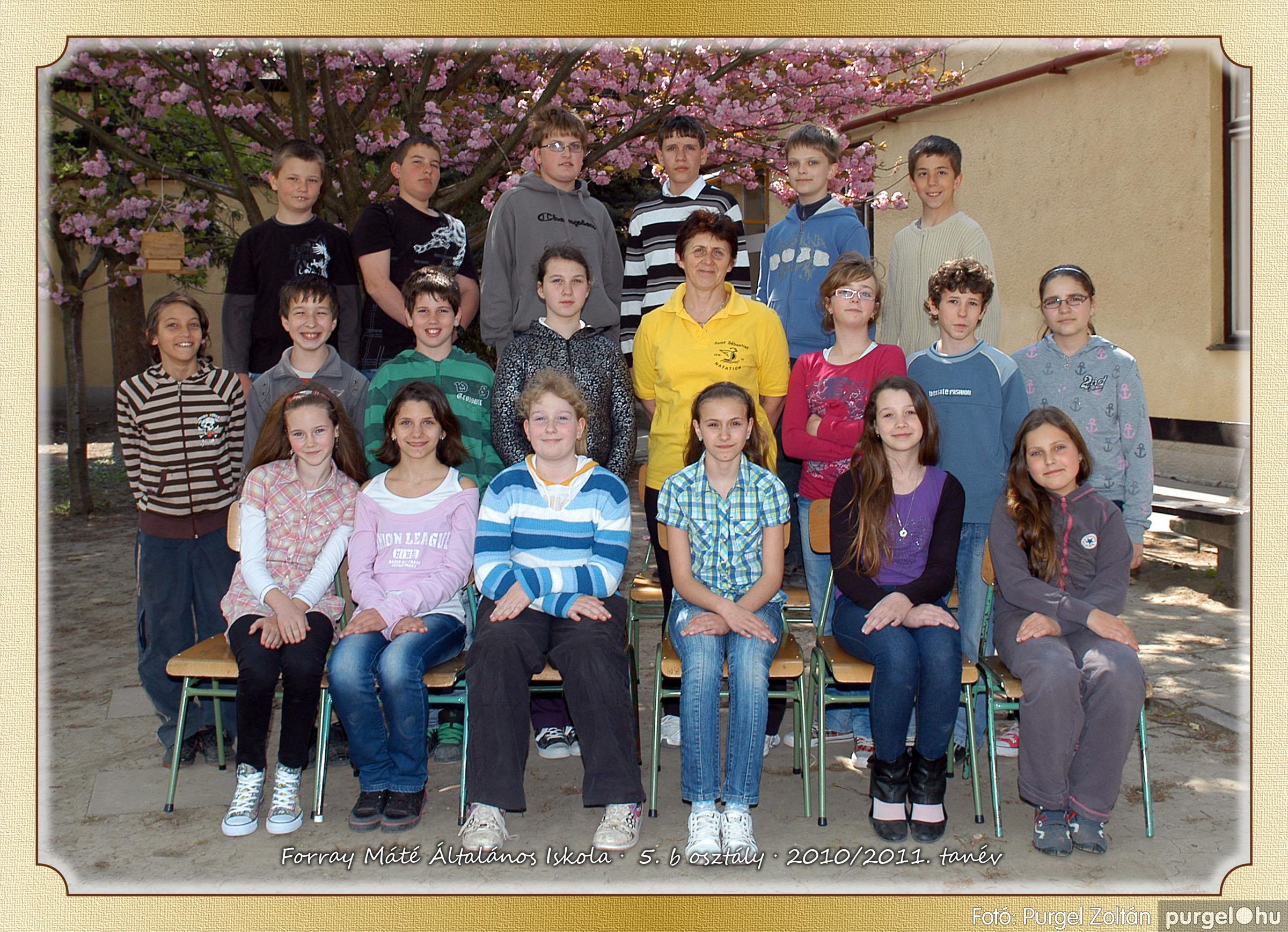2011.04.18-05.30. 027 Forray Máté Általános Iskola osztályképek 2011. - Fotó:PURGEL ZOLTÁN© 5b-1.jpg
