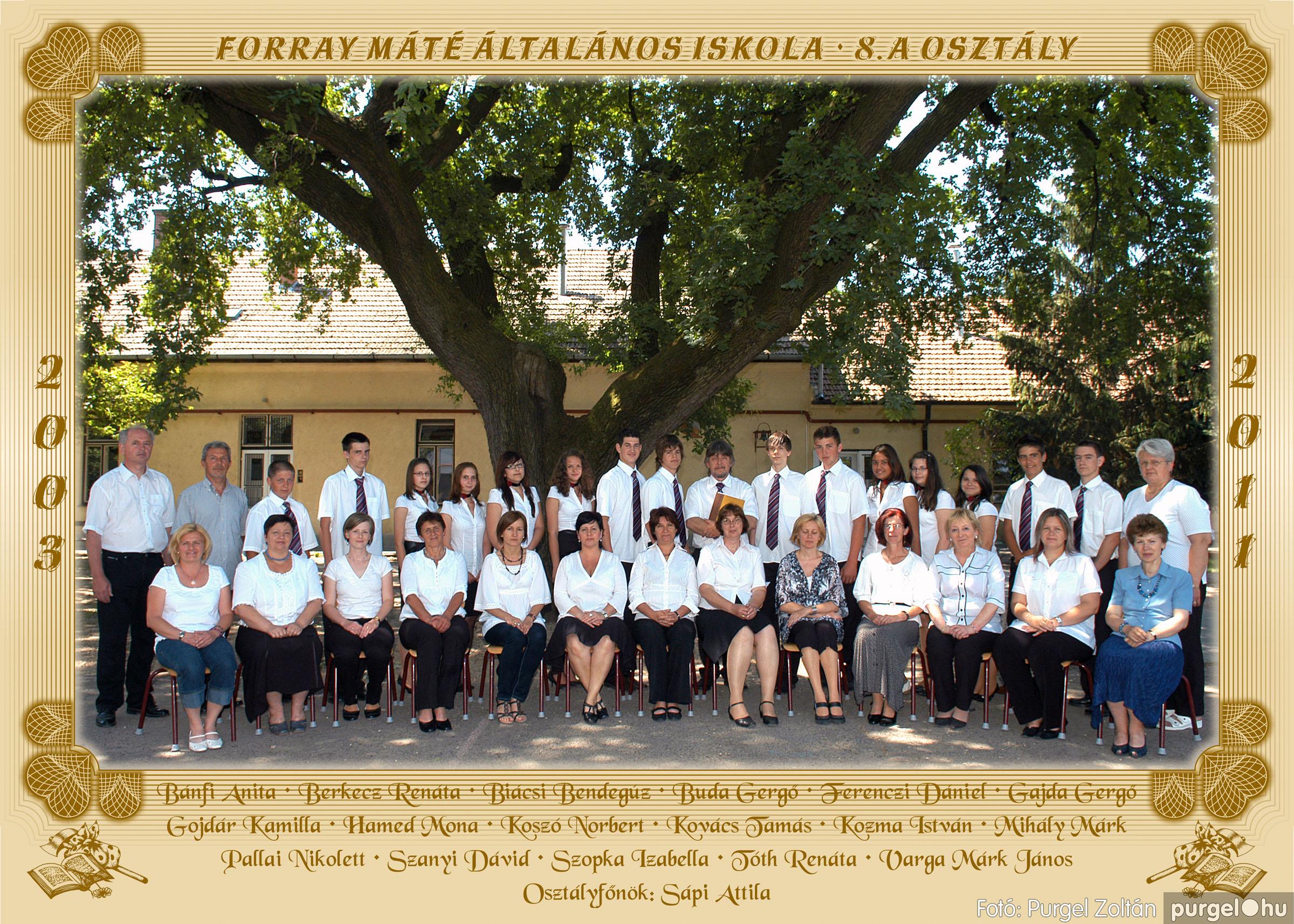 2011.04.18-05.30. 037 Forray Máté Általános Iskola osztályképek 2011. - Fotó:PURGEL ZOLTÁN© 8a.jpg