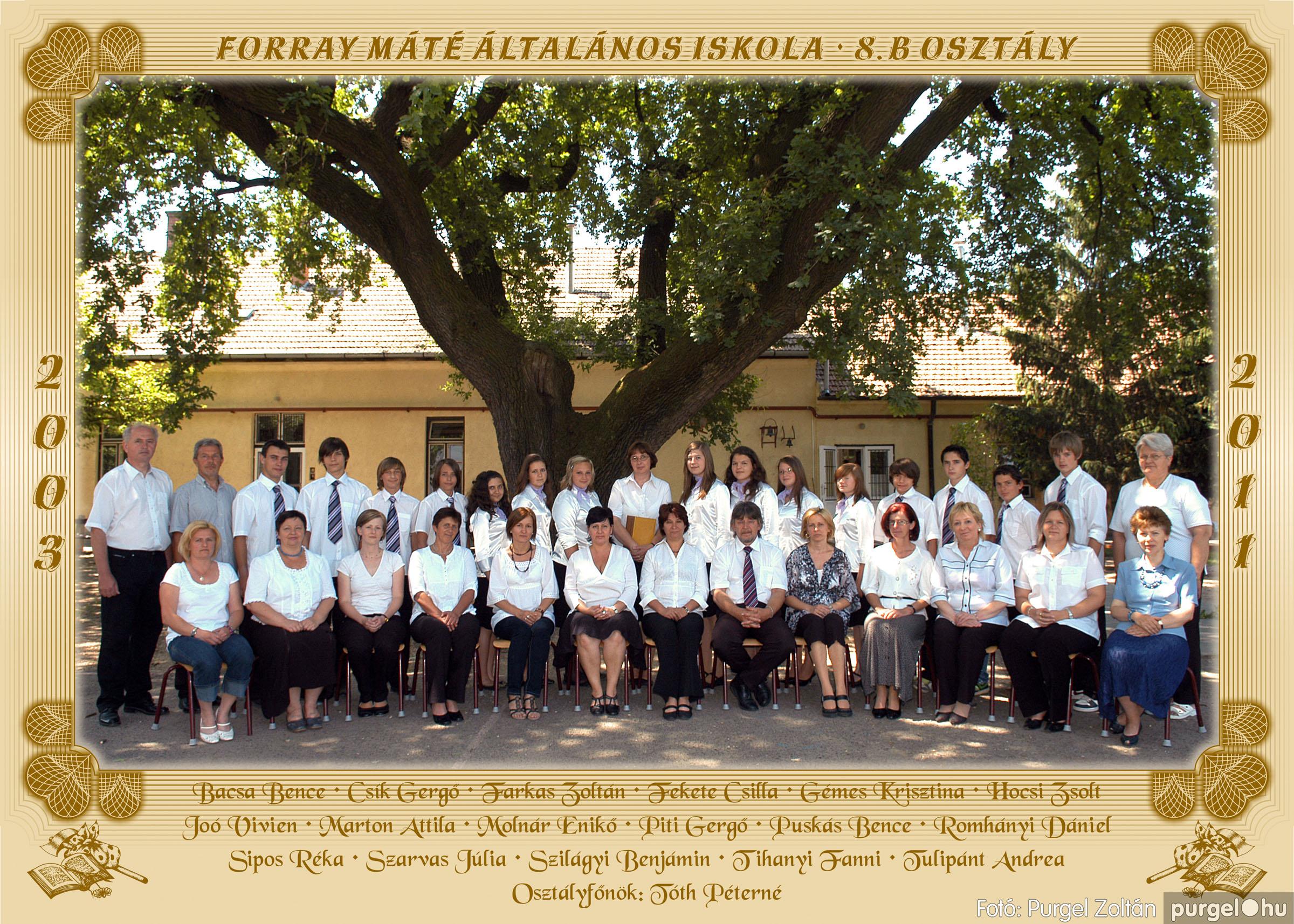 2011.04.18-05.30. 038 Forray Máté Általános Iskola osztályképek 2011. - Fotó:PURGEL ZOLTÁN© 8b.jpg