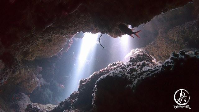 晴れるのを待った甲斐がありました♪ すんごいキレイな洞窟の光でした♪