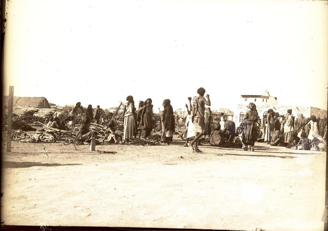 96. Джибути. Вид на базар