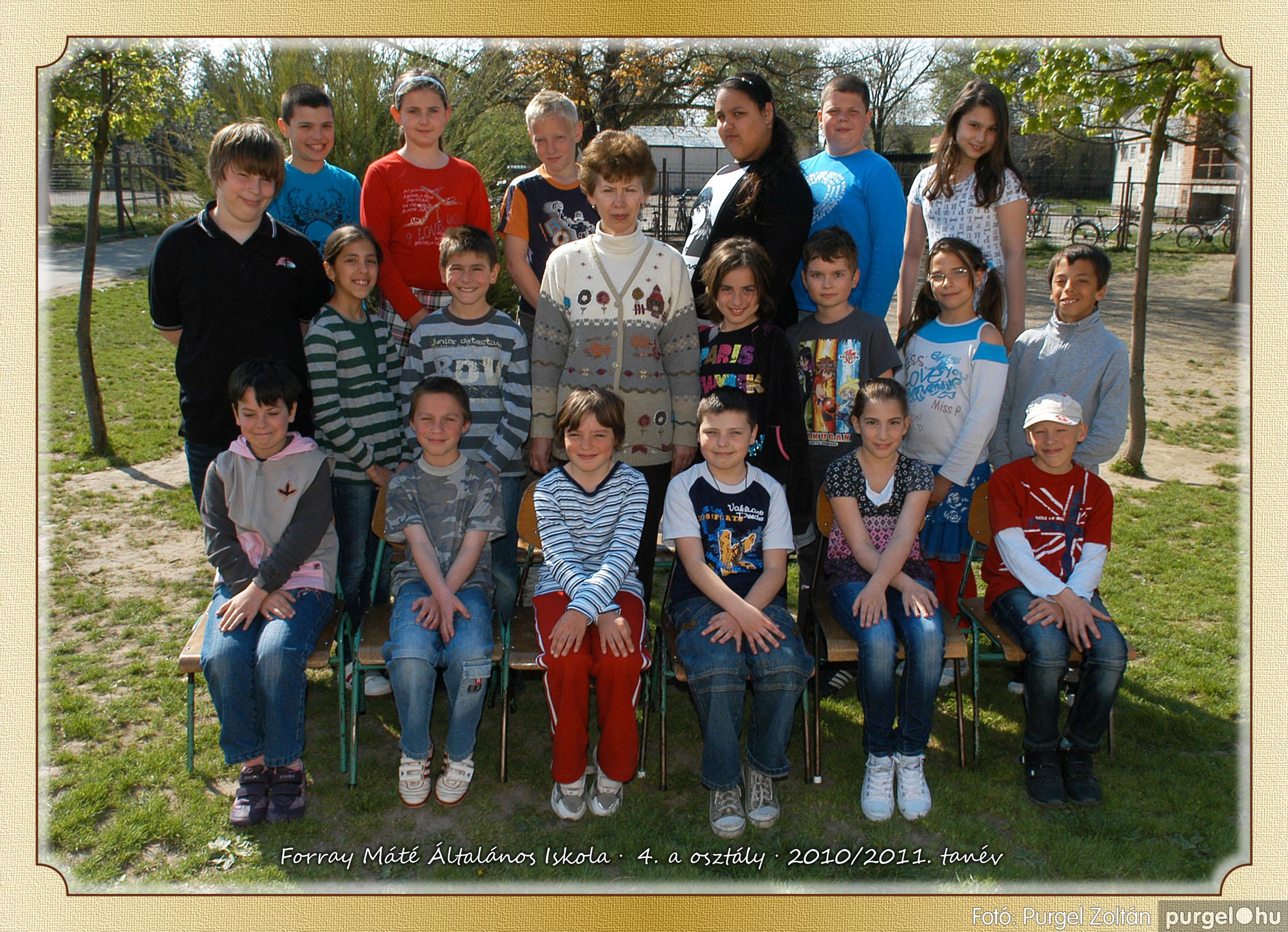 2011.04.18-05.30. 019 Forray Máté Általános Iskola osztályképek 2011. - Fotó:PURGEL ZOLTÁN© 4a-1.jpg