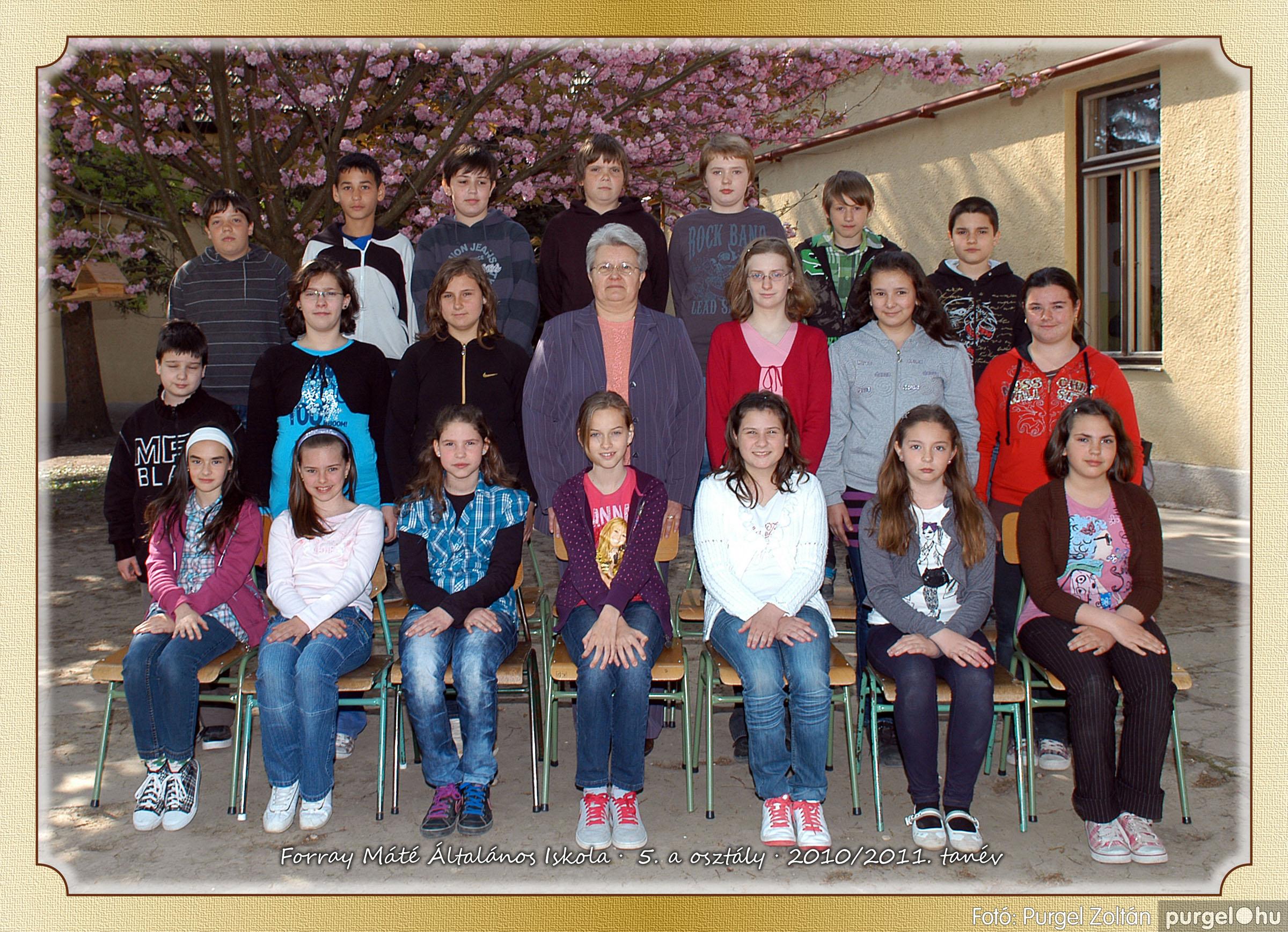 2011.04.18-05.30. 025 Forray Máté Általános Iskola osztályképek 2011. - Fotó:PURGEL ZOLTÁN© 5a-1.jpg