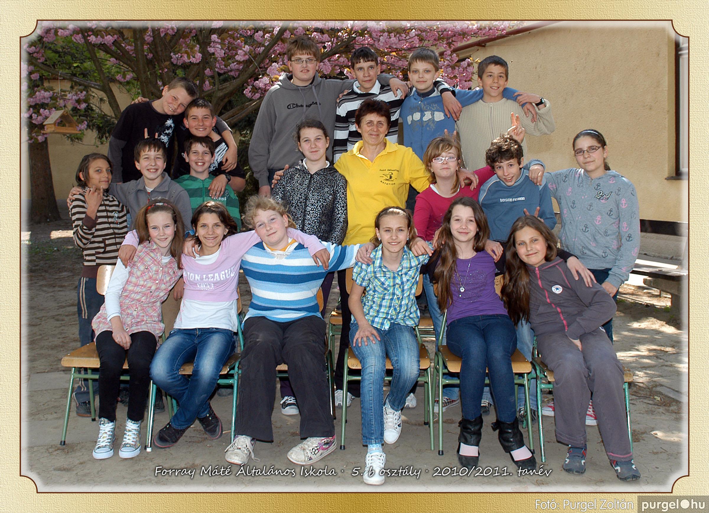 2011.04.18-05.30. 028 Forray Máté Általános Iskola osztályképek 2011. - Fotó:PURGEL ZOLTÁN© 5b-2.jpg