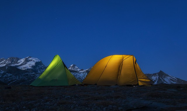 back from the summit - Base Camp at 2800m