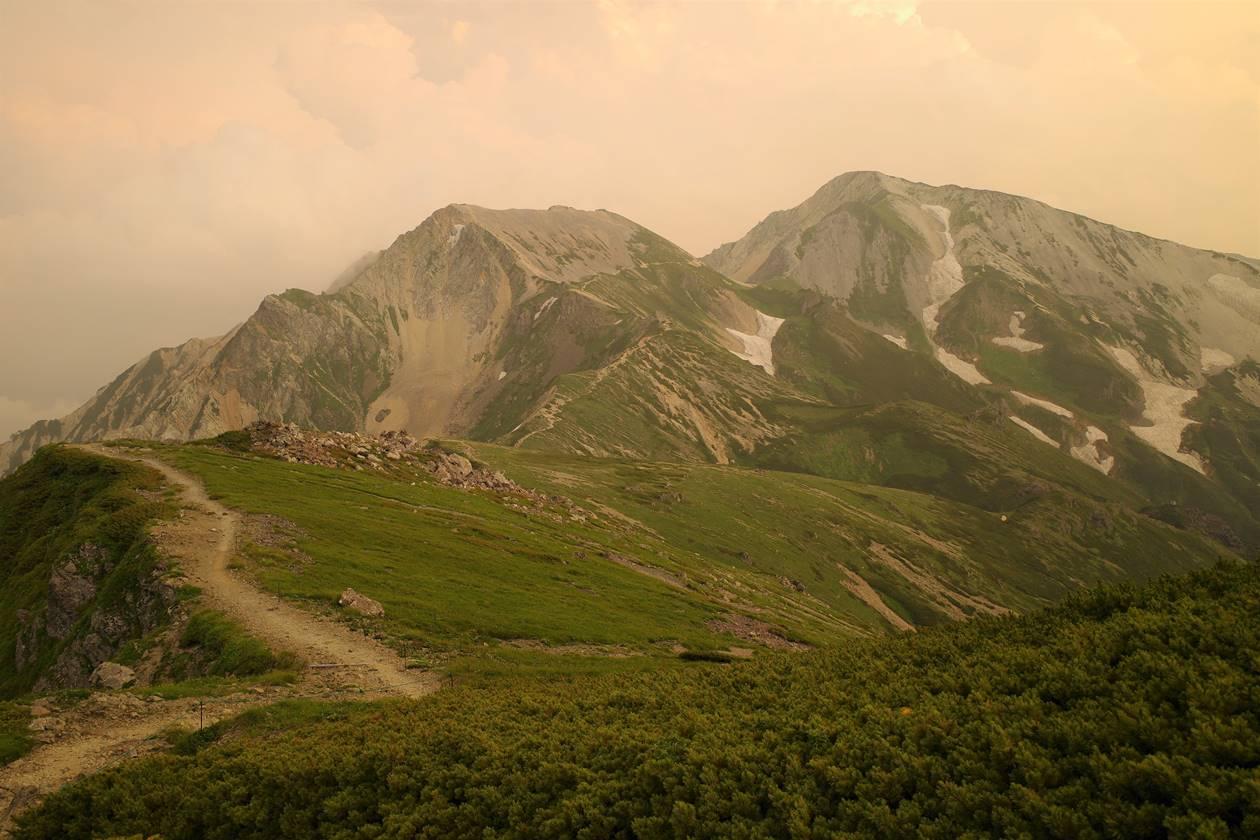 白馬岳 杓子岳~鑓ヶ岳