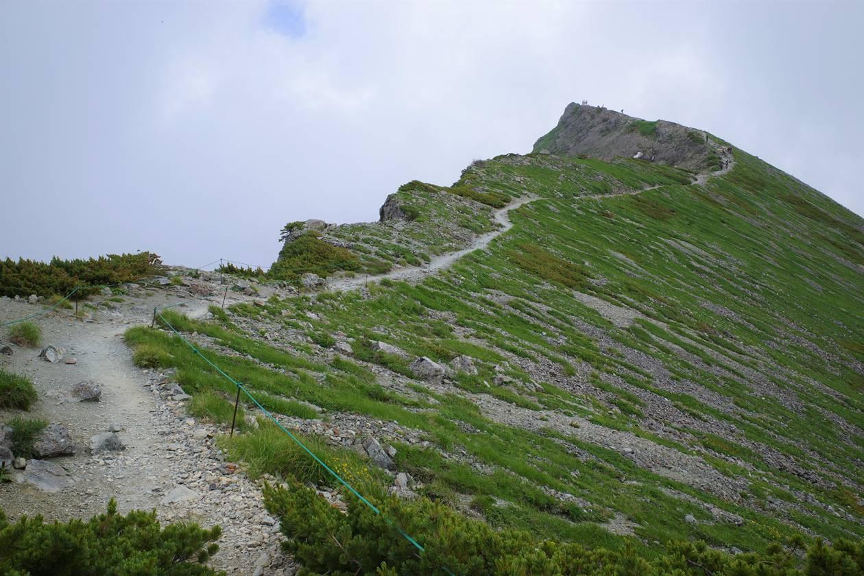 白馬岳山頂稜線