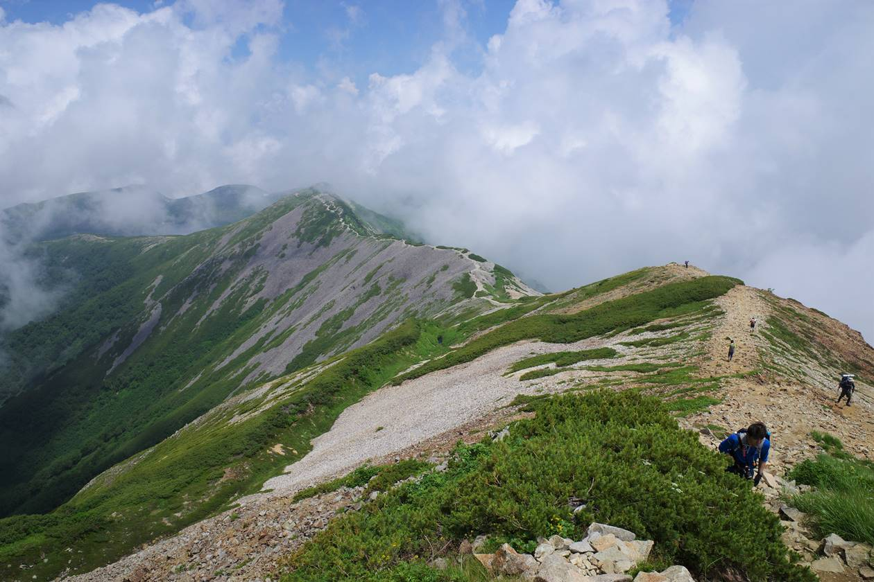 北アルプス白馬岳 稜線登山