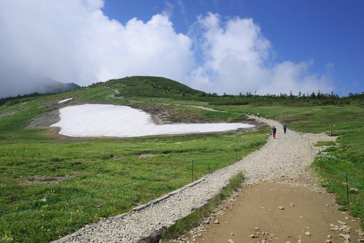 白馬大池から白馬岳の稜線へ