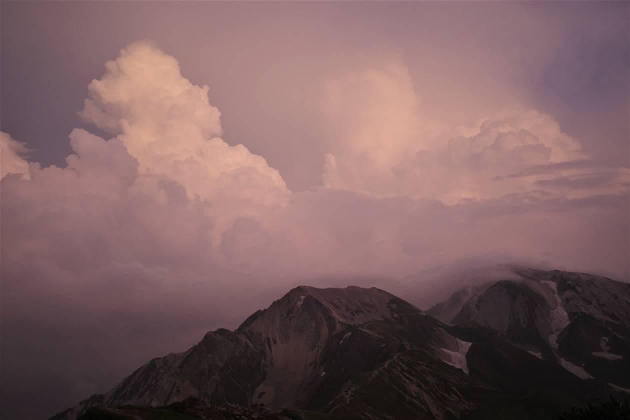 白馬岳で見た積乱雲