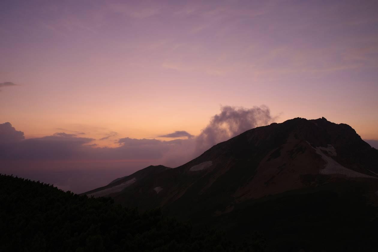 旭岳と夕焼け