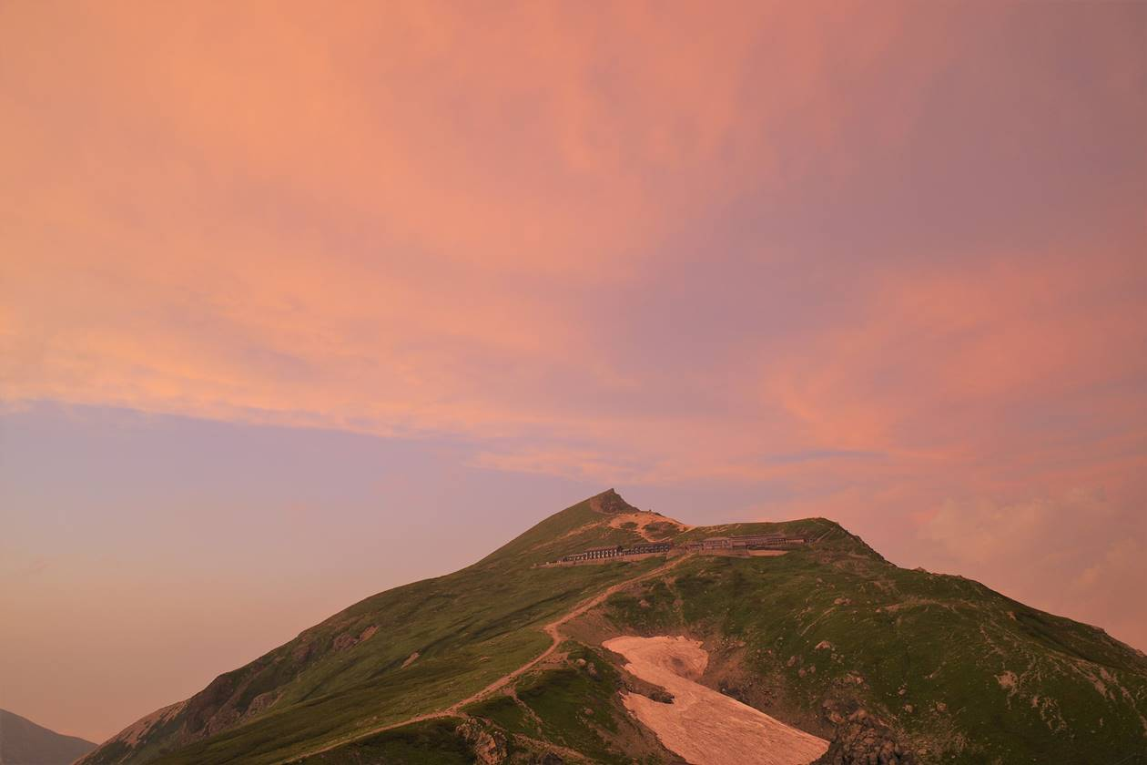 夕焼けと白馬岳