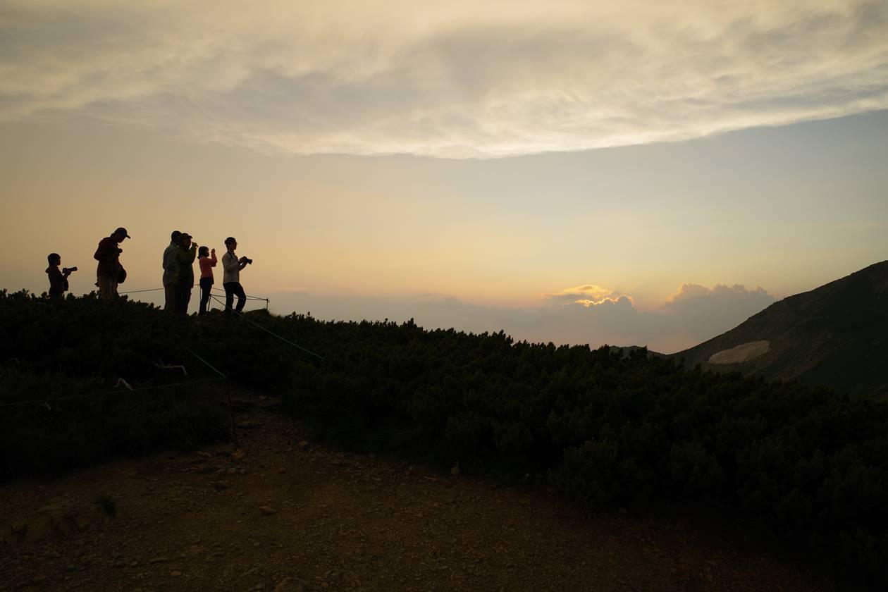 白馬岳からの夕焼け