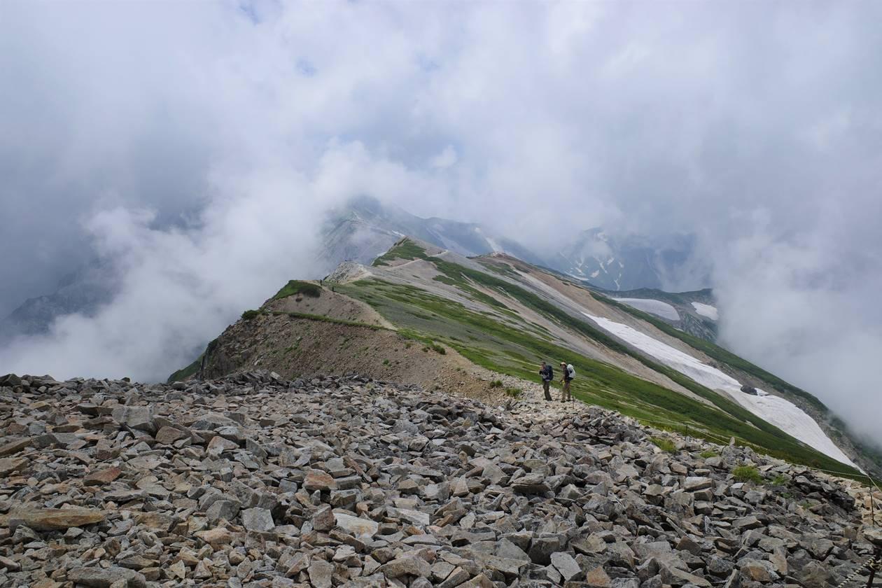 小蓮華山から白馬岳へ