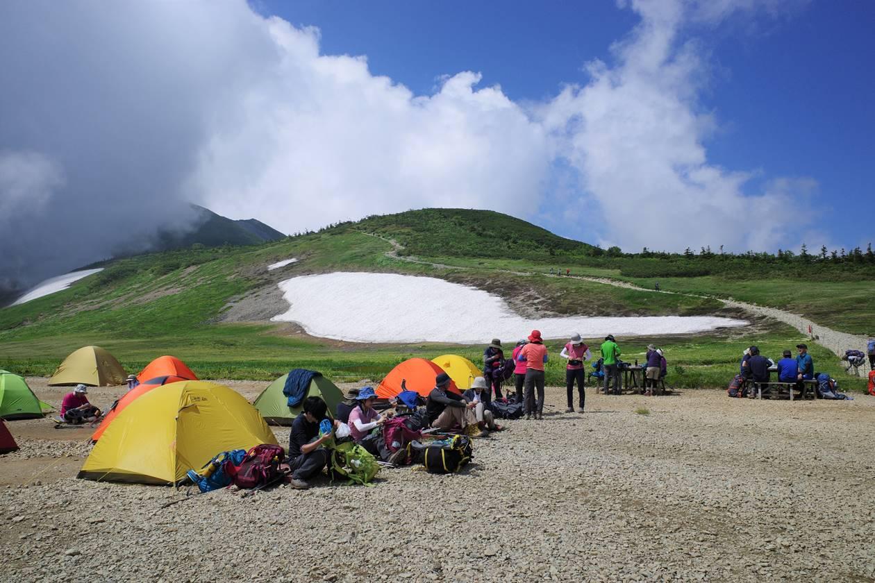 白馬大池山荘のテント場