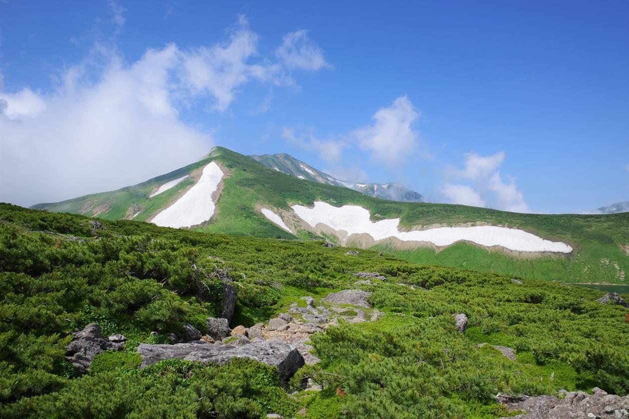 白馬乗鞍岳から眺める白馬岳の稜線