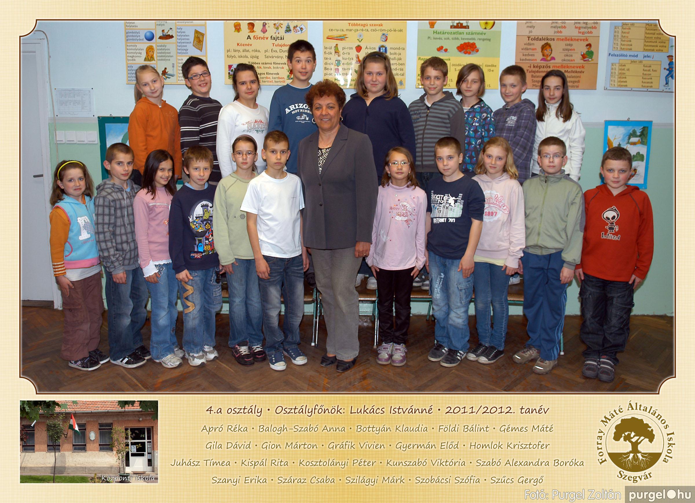 2012.04.25-06.12. 013 Forray Máté Általános Iskola osztályképek 2011. - Fotó:PURGEL ZOLTÁN© 4a-1.jpg