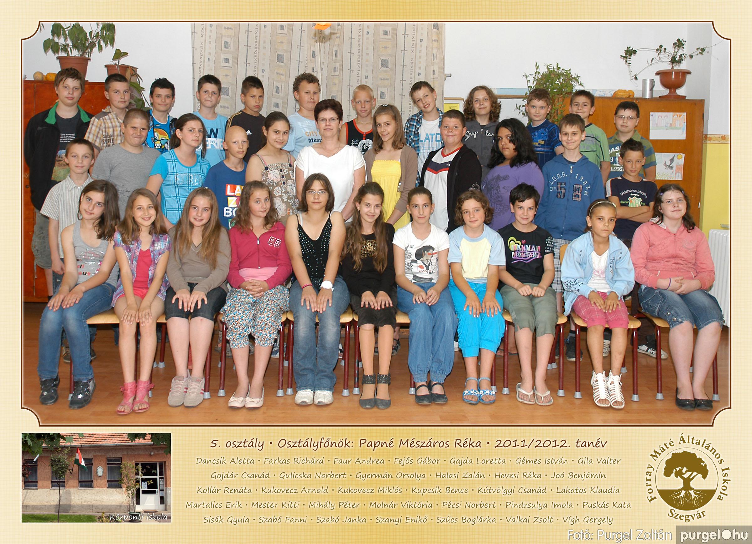 2012.04.25-06.12. 017 Forray Máté Általános Iskola osztályképek 2011. - Fotó:PURGEL ZOLTÁN© 5-1.jpg