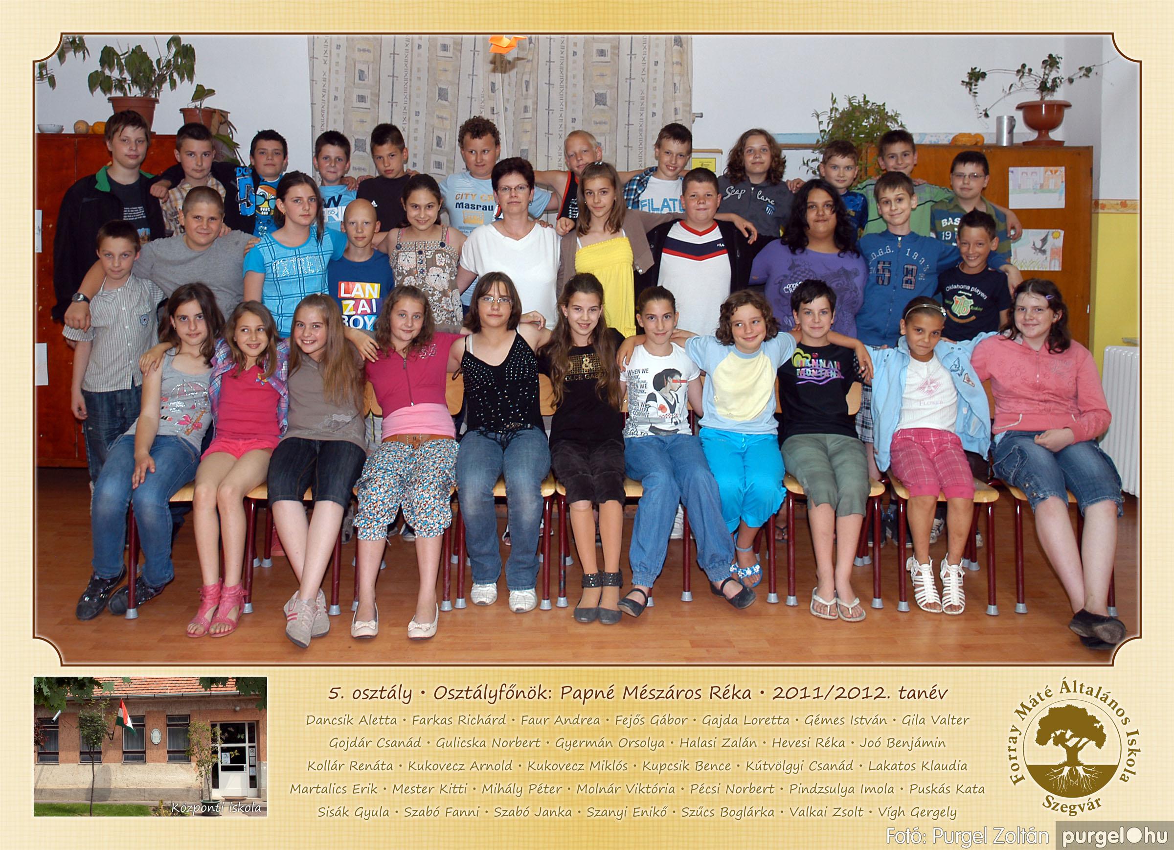 2012.04.25-06.12. 018 Forray Máté Általános Iskola osztályképek 2011. - Fotó:PURGEL ZOLTÁN© 5-2.jpg