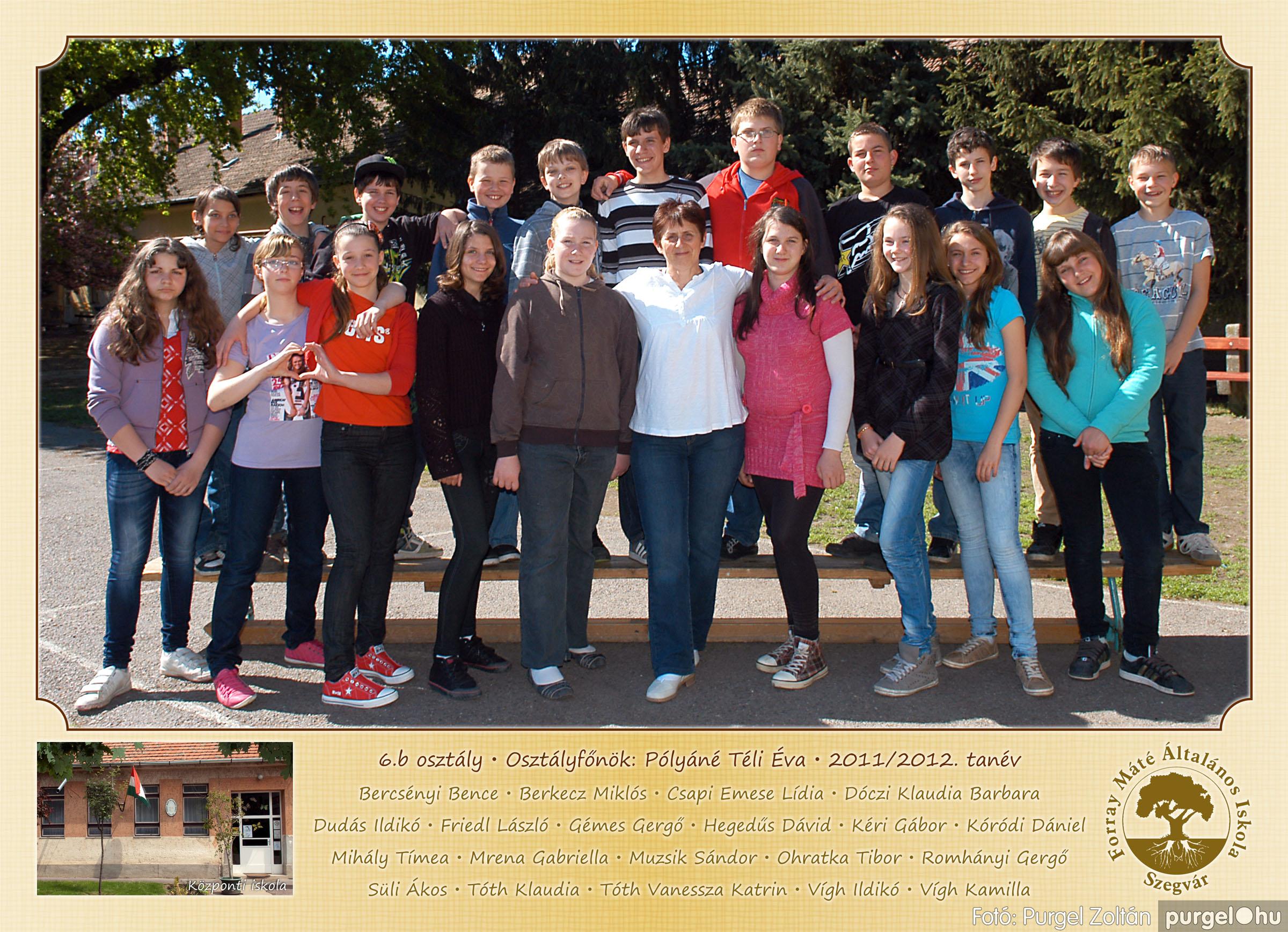 2012.04.25-06.12. 022 Forray Máté Általános Iskola osztályképek 2011. - Fotó:PURGEL ZOLTÁN© 6b-2.jpg