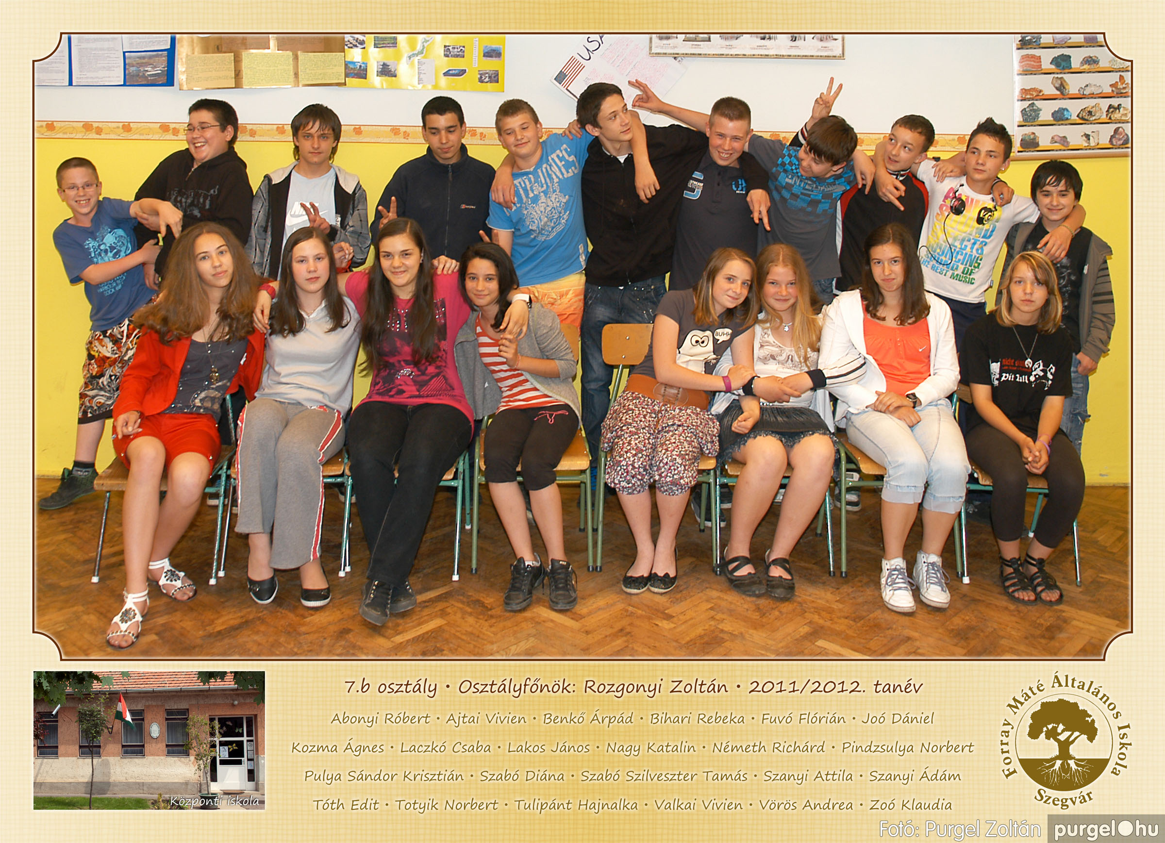 2012.04.25-06.12. 026 Forray Máté Általános Iskola osztályképek 2011. - Fotó:PURGEL ZOLTÁN© 7b-2.jpg