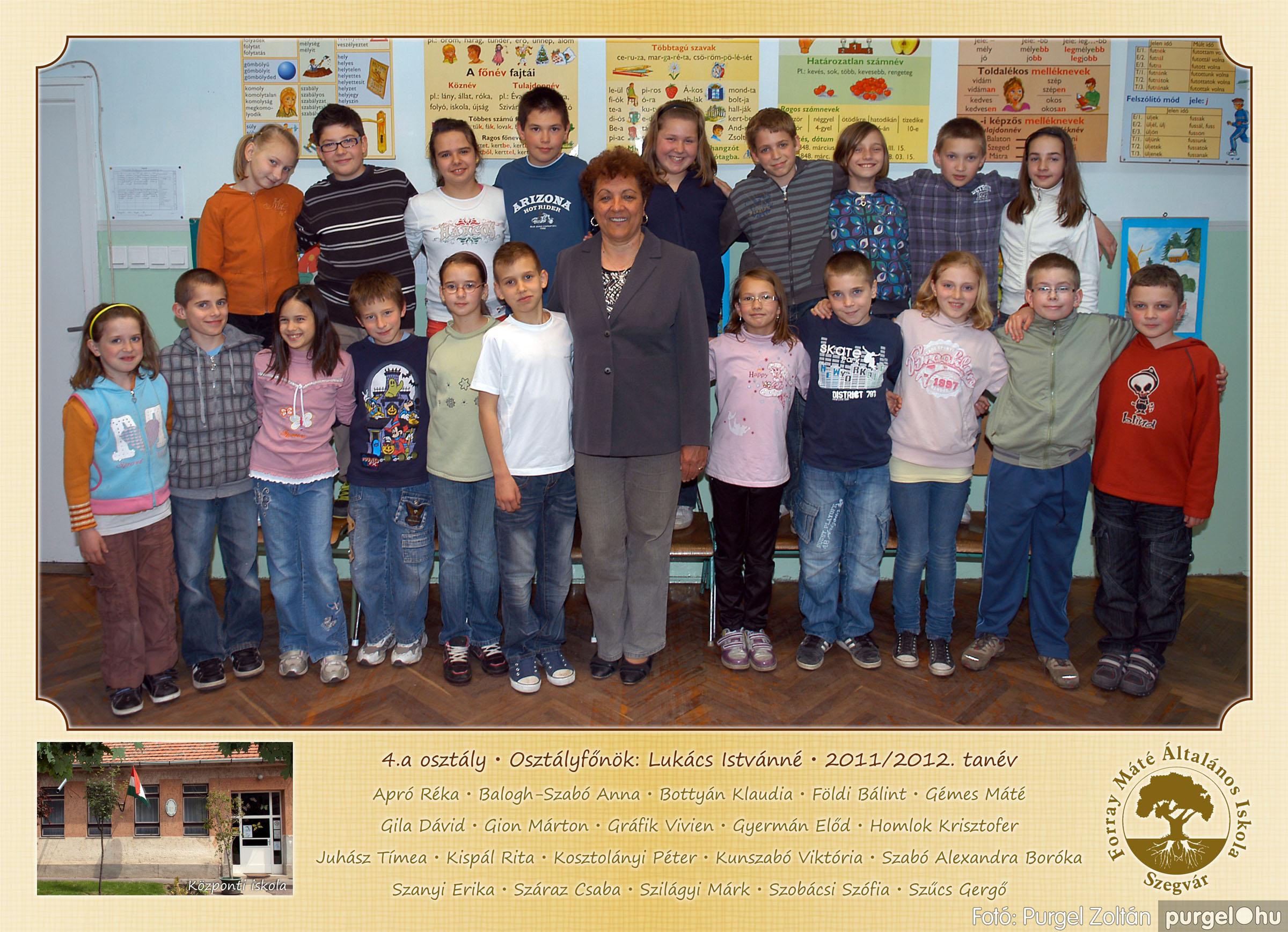 2012.04.25-06.12. 014 Forray Máté Általános Iskola osztályképek 2011. - Fotó:PURGEL ZOLTÁN© 4a-2.jpg