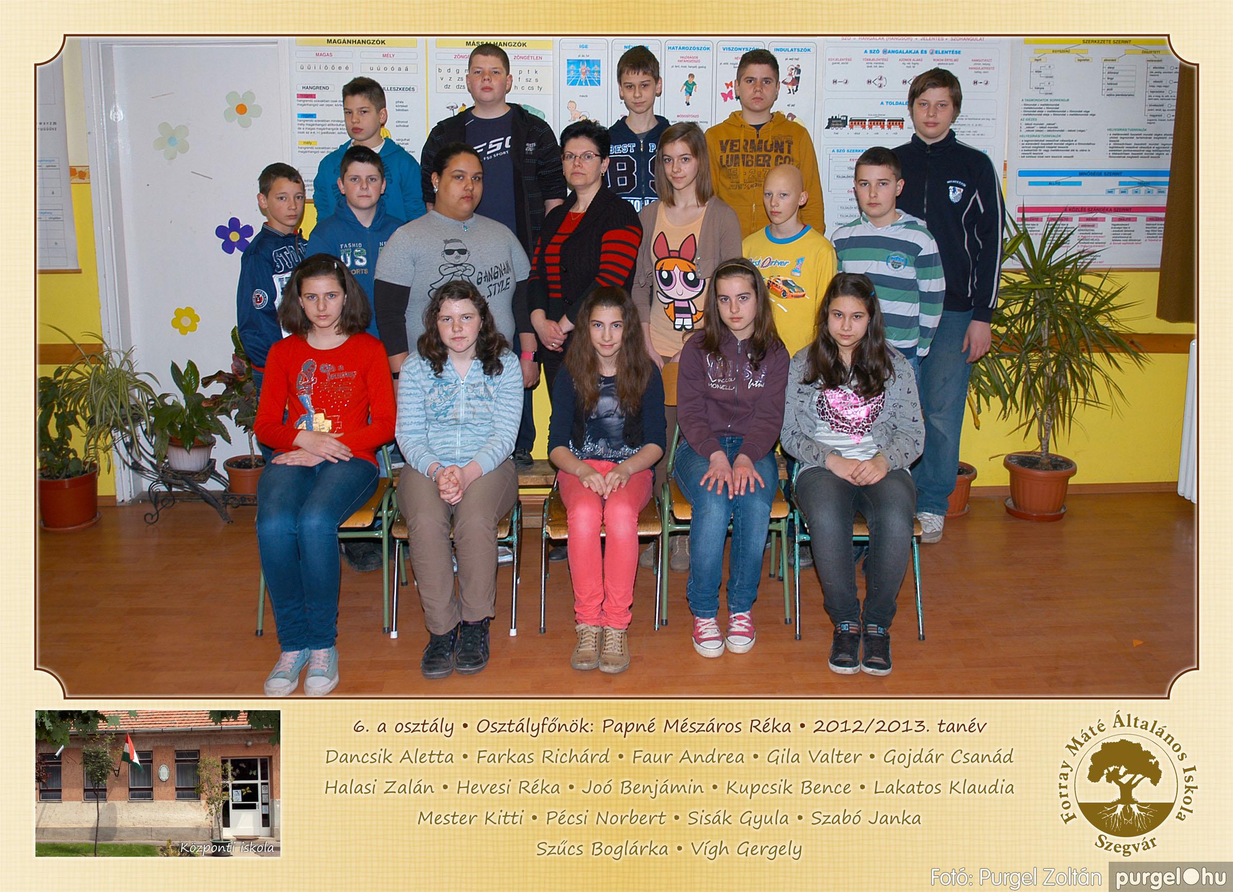 2013.04.04-05.24. 021 Forray Máté Általános Iskola osztályképek 2013. - Fotó:PURGEL ZOLTÁN© 6a-1.jpg