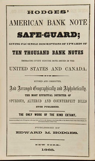 1863 American Bank Note Safe-Guard title page