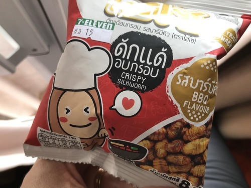 Found in the 7-11 in Phuket: Crispy silkworm snacks