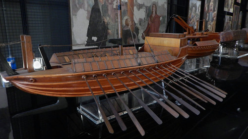 Leonardo da Vinci, model of ship