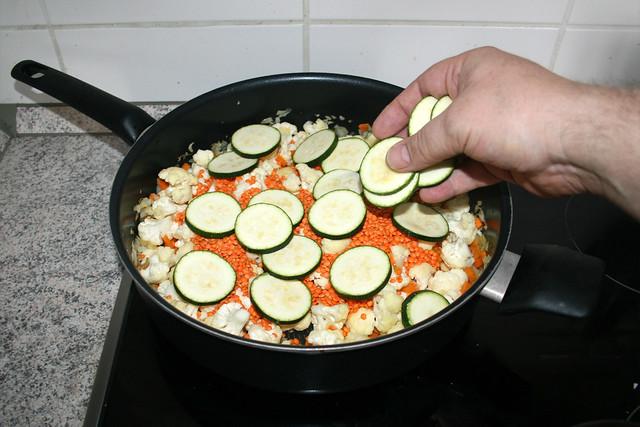 19 - Zucchini in Pfanne geben / Pur zucchini in pan