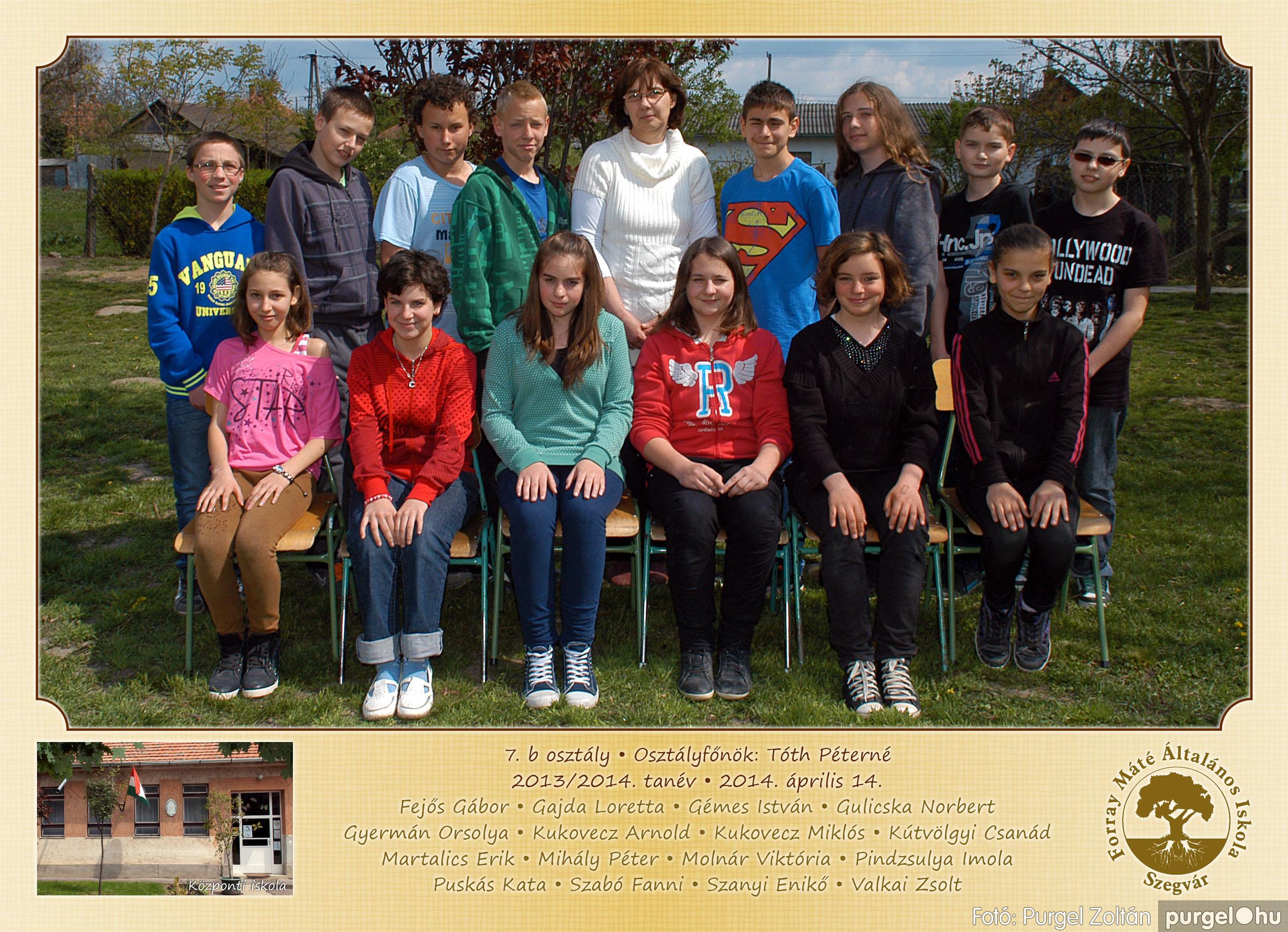 2014.04.11-05.19. 028 Forray Máté Általános Iskola osztályképek 2014. - Fotó:PURGEL ZOLTÁN© 7b-2.jpg