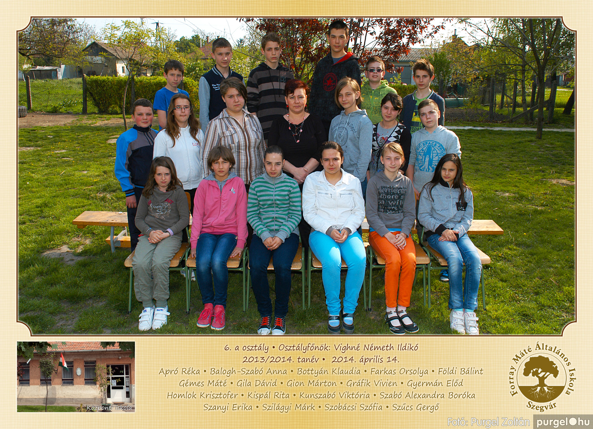 2014.04.11-05.19. 021 Forray Máté Általános Iskola osztályképek 2014. - Fotó:PURGEL ZOLTÁN© 6a-1.jpg