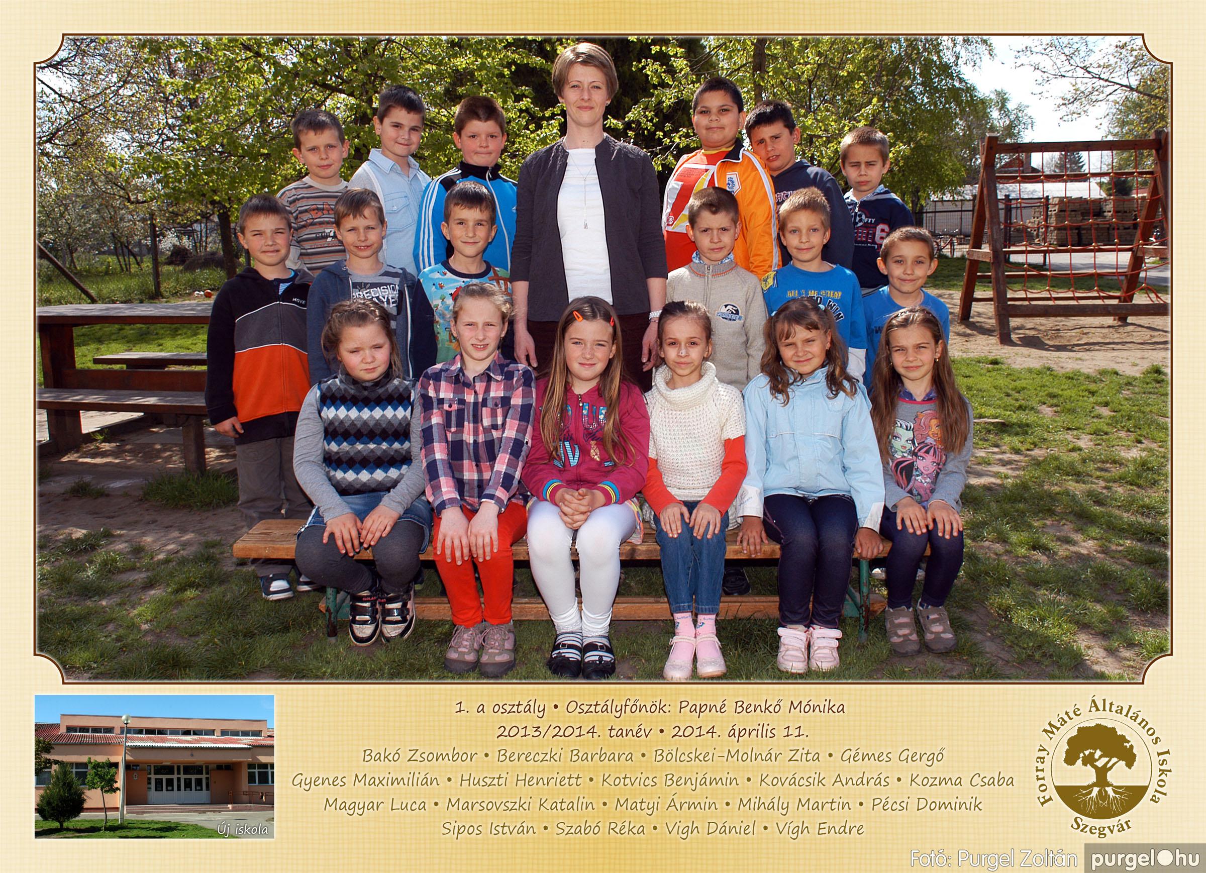 2014.04.11-05.19. 001 Forray Máté Általános Iskola osztályképek 2014. - Fotó:PURGEL ZOLTÁN© 1a-1.jpg