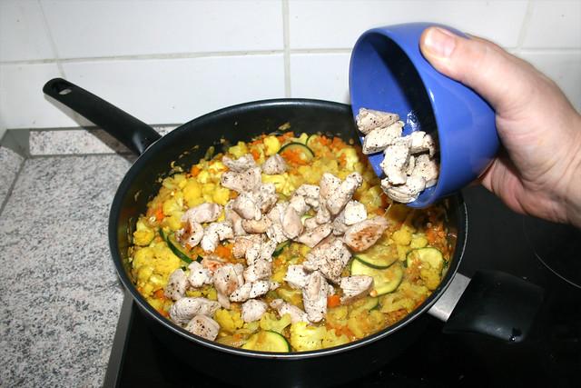 28 - Putenfilet addieren / Add turkey filet