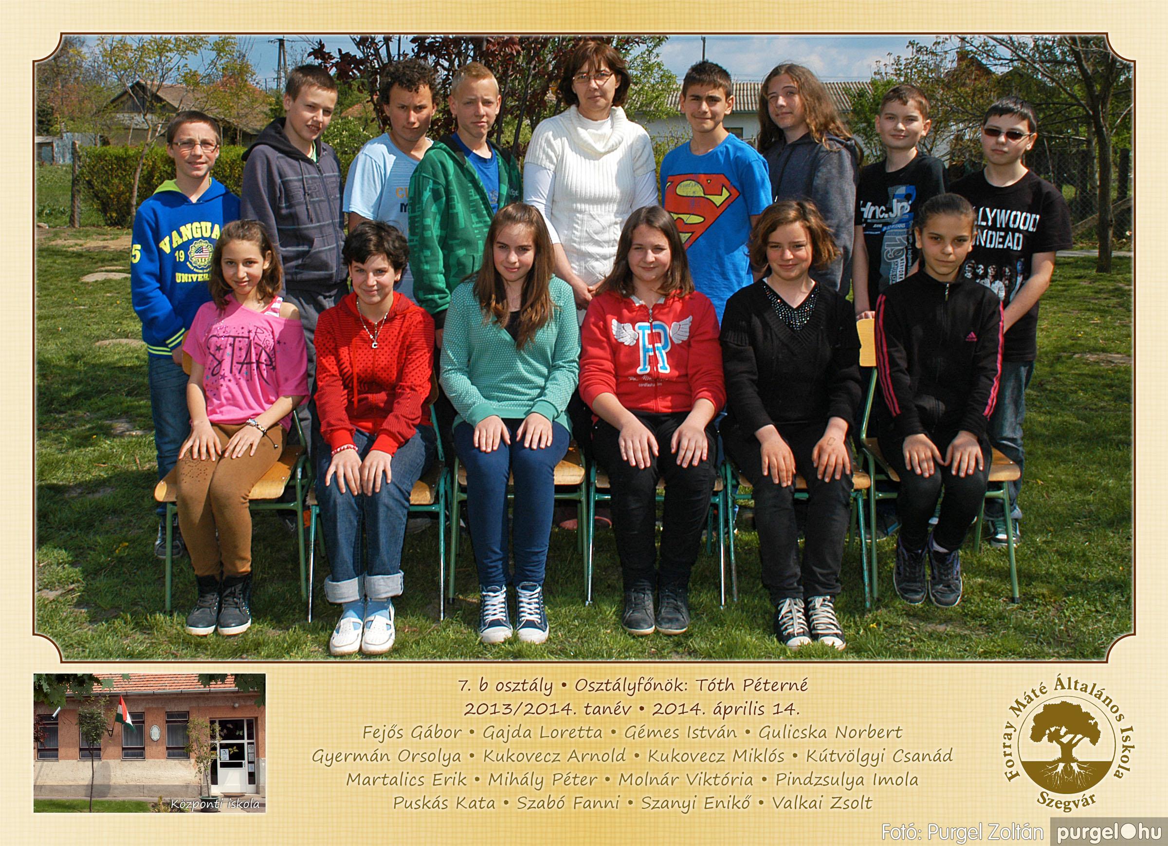 2014.04.11-05.19. 027 Forray Máté Általános Iskola osztályképek 2014. - Fotó:PURGEL ZOLTÁN© 7b-1.jpg