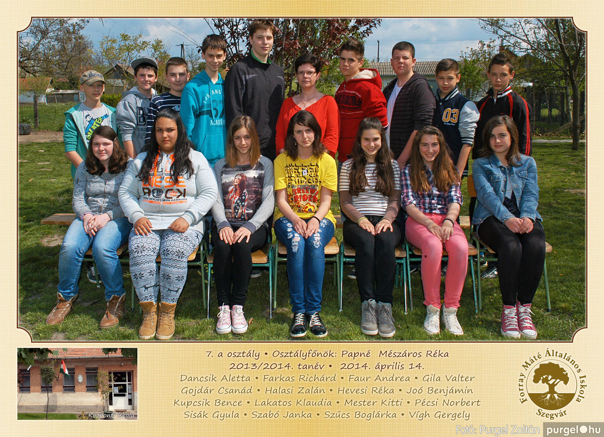 2014.04.11-05.19. 025 Forray Máté Általános Iskola osztályképek 2014. - Fotó:PURGEL ZOLTÁN© 7a-1.jpg
