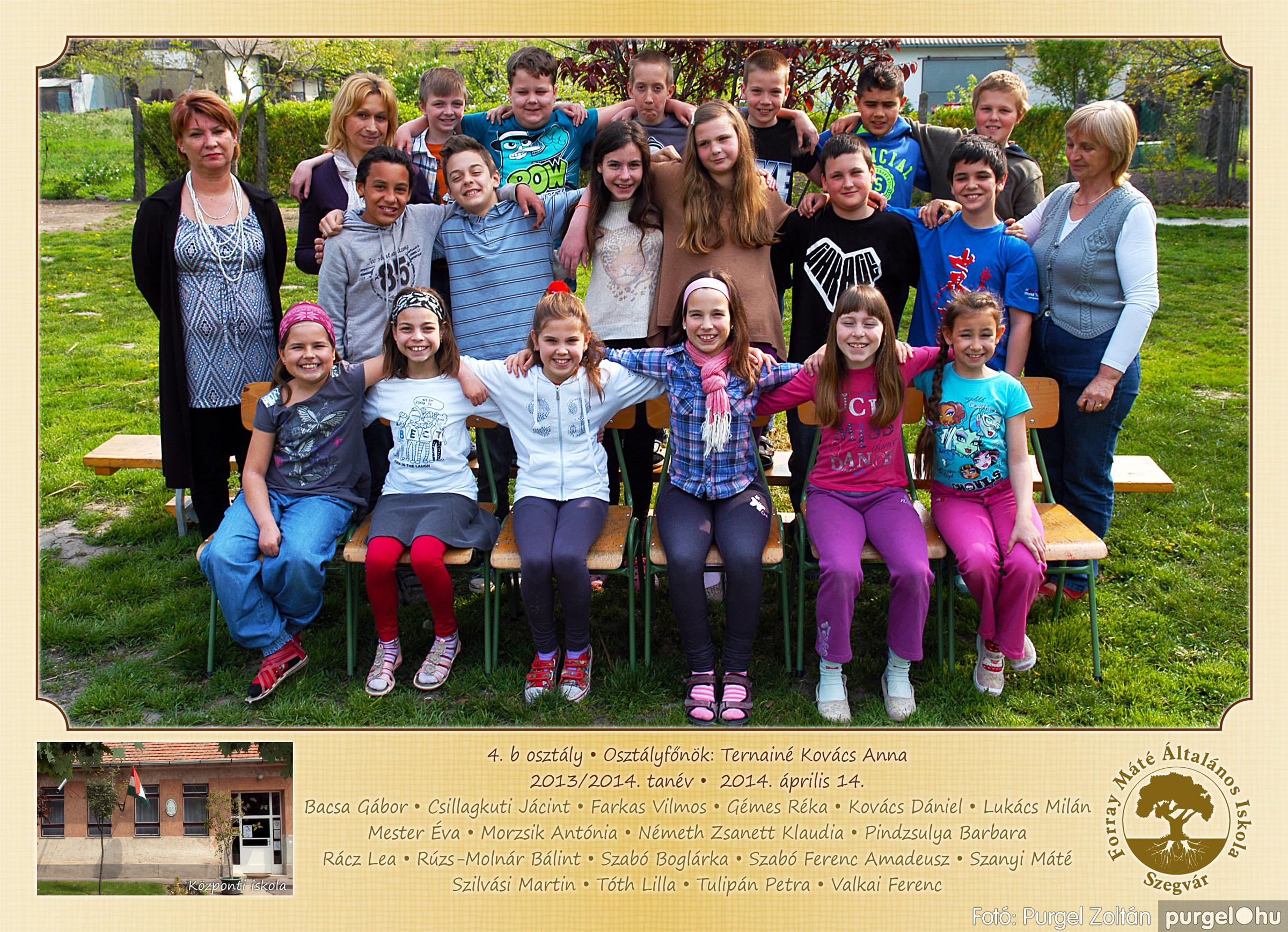 2014.04.11-05.19. 016 Forray Máté Általános Iskola osztályképek 2014. - Fotó:PURGEL ZOLTÁN© 4b-2.jpg